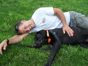 Our 1st Rescue Dog_Blu Campbell_day1_relaxing with Al